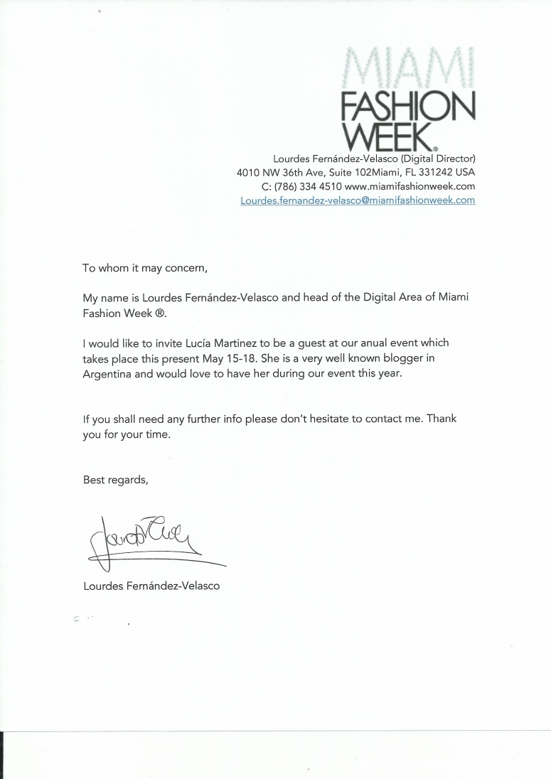 invitacion miami fashion week