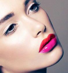 color block lips