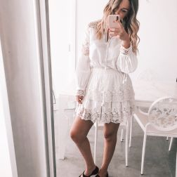 total white con look @delinoenflor