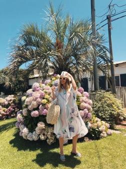 Las hortensias de Punta con vestido camisero de Cher